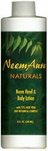 Neem Hand & Body Lotion with Aloe Vera 8 oz, Neem Aura Naturals