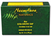 Ultra-Sensitive Soap Mint 1 bar, Neem Aura Naturals