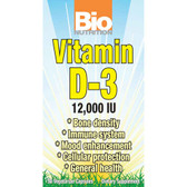 Bio Nutrition D3 12000 iu 50 Caps, Bone Density