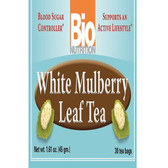 White Mulberry Leaf Tea 30 Tea Bags, Bio Nutrition Blood Sugar Control
