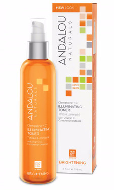 Brightening Clementine Plus C Illuminating Toner 6 oz, Andalou