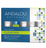 Get Started Clarifying Skin Care Kit 5 PC Andalou, Energized Renewal