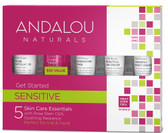1000 Roses Get Started 5 Piece Kit Andalou, Sensitive, Dry Skin
