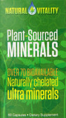 Plant Sourced Minerals 60 Caps, Natural Vitality