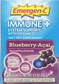 Immune + System Support w Vitamin D Blueberry Acai 30 PKT Alacer