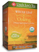 Whole Leaf 100% Organic Oolong Tea 18 Tea Bags, Uncle Lee's Tea