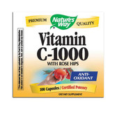 Vit C 1000 with Rose Hips, 100 caps, Nature's Way