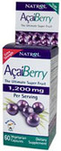 AcaiBerry Extra Strength 1200 mg 60 vegiCaps, Natrol