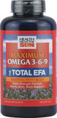 Total EFA Double Action 180 softgels, Health from the Sun