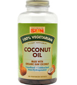 100%% Vegetarian Coconut Oil Cap 180 Softgels Health from the Sun