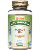 Borage Oil 100%% Vegetarian 60 vCaps Health from the Sun