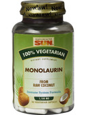 Monolaurin Vegetarian 100%% 90 vCaps Health from the Sun