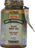 100% Vegetarian Flaxseed Oil 90 Softgels, Health from the Sun