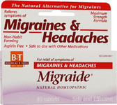 Migraide Blister Pak  40 Tabs, Boericke and Tafel