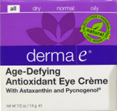 Age Defying Eye Creme with Astazanthin & Pycnogenol .5 oz, Derma E