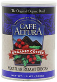 Regular Roast Decaf Ground Coffee 12 oz Cafe Altura