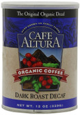 Dark Roast Decaf Ground Coffee 12 oz Cafe Altura, USDA Organic