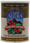 Fair Trade Drk Blend Rst Grnd Coffee 12 oz Cafe Altura