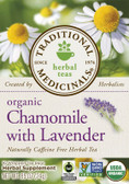 Organic Chamomile w/Lavender Tea 16 Bags Traditional Medicinals, Stress, Tension, Digestion