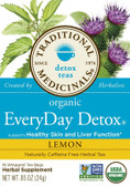 Lemon Everyday Detox 16 Bags Traditional Medicinals Teas, Liver