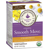 Smooth Move Chamomile 16 Bags Traditional Medicinals, Laxative, Regularity
