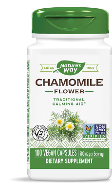 Chamomile Flowers 350 mg 100 Caps, Nature's Way Digestive Relaxant