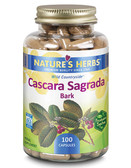 Nature's Herbs Cascara Sagrada Bark 100 Caps, Constipation, Hemorrhoids