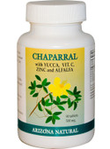 Arizona Natural Products Chaparral w/Vitamin C-Zinc-Yucca 500mg 90 Tabs