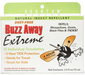 Buzz Away Extreme Outdoor Protection 12 Towelettes, Quantum