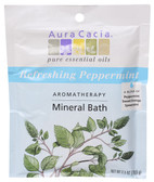 Aromatherapy Mineral Bath Refreshing Peppermint 2.5 oz, Aura Cacia