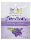 Aura Cacia Relaxing Lavender Aromatherapy Foam Bath 2.5 oz packet