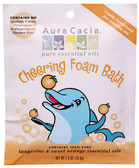 Aura Cacia Cheering Aromatherapy Foam Bath for Kids 2.5 oz packet