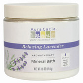 Aura Cacia Relaxing Lavender Aromatherapy Mineral Bath 16 oz jar