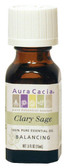Aura Cacia Clary Sage 100% Pure Essential Oil 0.5 oz bottle