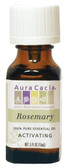Aura Cacia Rosemary 100% Pure Essential Oil 0.5 oz bottle