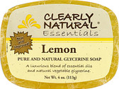 Glycerine Bar Soaps Lemon 4 oz, Clearly Natural