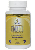 Emu Gold Emu Oil Certified Pure Grade A Extra Strength 750mg 90 Softgels
