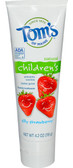 Silly Strawberry Fluoride Children's Toothpaste 4.2 oz, Tom's of Maine