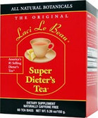 Laci Le Beau Super Dieter's Tea 60 Bags, Weight Loss