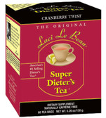 Laci Le Beau Super Dieter's Tea Cranberry Twist 60 Bags