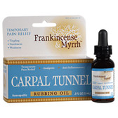 Carpal Tunnel Rubbing Oil 0.5 oz, Frankincense & Myrrh