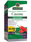 Cayenne Pepper Fruit 90 Caps Nature's Answer, Circulation