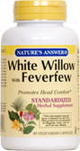 White Willow Feverfew Standardized 60 vCaps, Nature's Answer