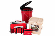 Preparedness survival package with food and necessities for 4 people