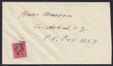 czj16c8. Canal Zone J16 tied by mute killer on neat cover to Cristobal. Attractive Postage Due cover.