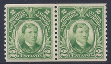pi326d3. Philippines stamps 326 coil pair unused NH VF-XF. Fresh & Choice! Scarce thus!