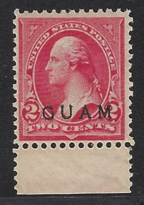 gm02g3. Guam 2a unused OG Very Fine. Excellent Example of Elusive Shade!