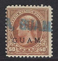gm11e3. Guam 11 used Ave-Fine. Scarce Used Example!