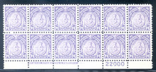 pi284m. Philippines 284 bottom Imprint & Plate # block of 12. Unused, Never Hinged, VF-XF. Choice block!