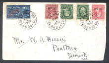 gme1f. Guam E1 with 1(2) 2a & 6 tied by AGANA 3-1-1902 cds's on RARE Special Delivery cover to US. Rare & Attractive Multi-color Combo Special Service cover!